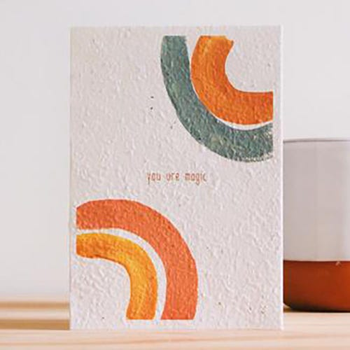 Hello Petal Seeded Card - You Are Magic Blooming Card