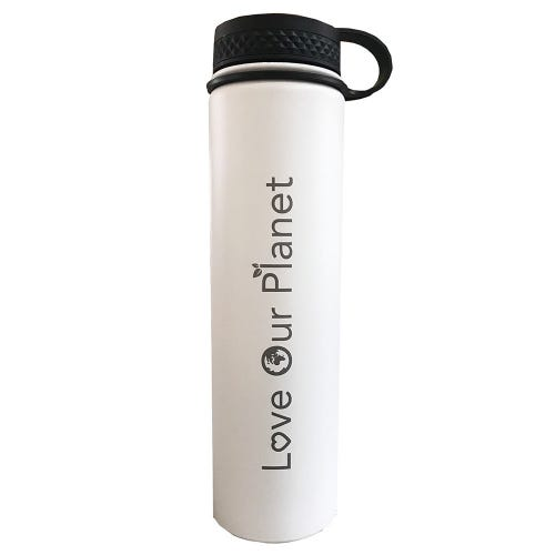 F&F Exclusive Bottle - Love Our Planet - White (731ml)