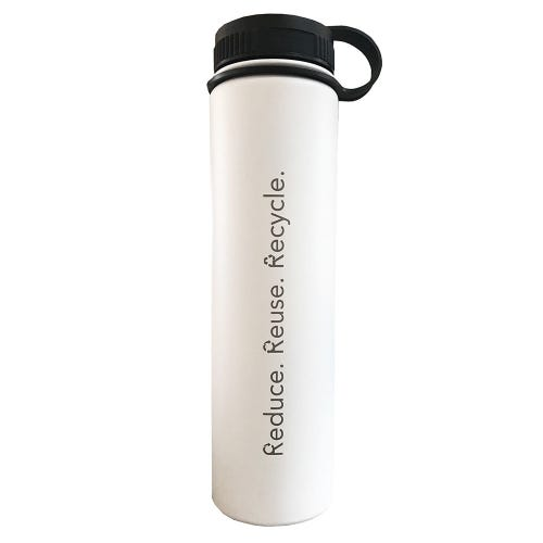 F&F Exclusive Bottle - Reduce Reuse Recycle White (731ml)