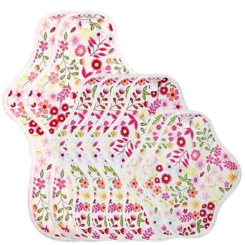 hannahpad Pads Set - Starter Pack (8 Pads) Flower Garden Pink