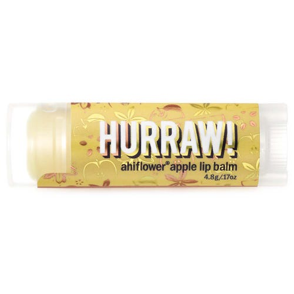 Hurraw! Ahiflower Apple Lip Balm