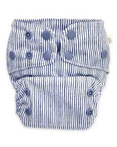 EcoNaps Reusable Cloth Nappy - Indigo Pinstripe