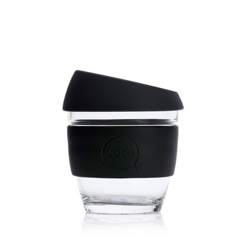 JOCO Reusable Glass Cup Black (8oz)