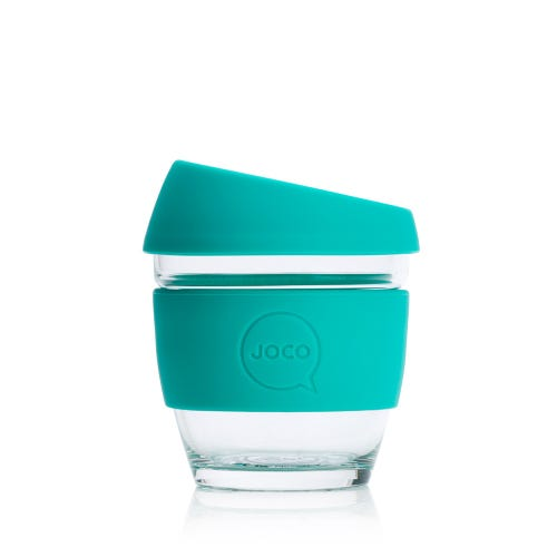 JOCO Reusable Glass Cup Mint (8oz)