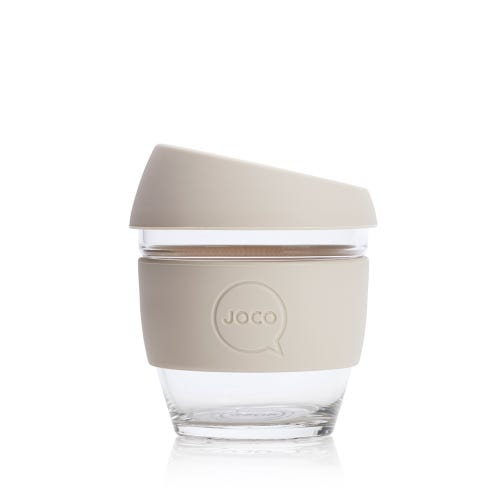 JOCO Reusable Glass Cup Sandstone (8oz)