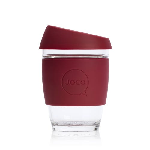 JOCO Reusable Glass Cup Ruby Wine (12oz)