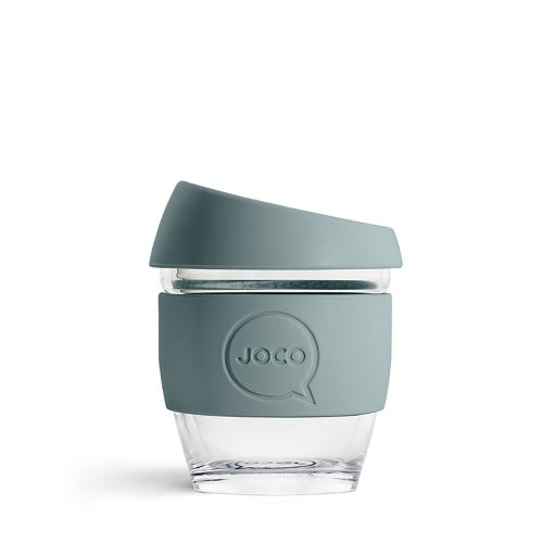 JOCO Reusable Glass Cup Bluestone