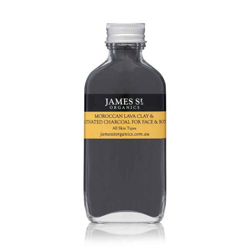 James St. Organics Lava Clay & Activated Charcoal Mask (100g)