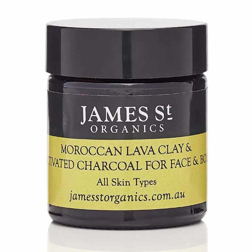 James St. Organics Lava Clay & Activated Charcoal Mask Mini (30g)