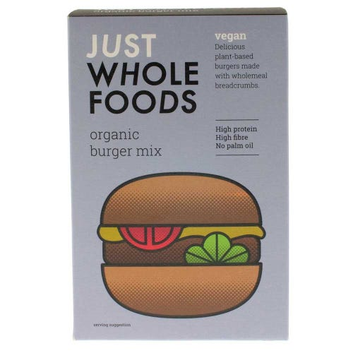 Just Wholefoods Organic & Vegan Burger Mix (125g)