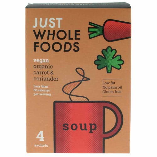 Just Wholefoods Organic Carrot & Coriander Soup Mix (68g)