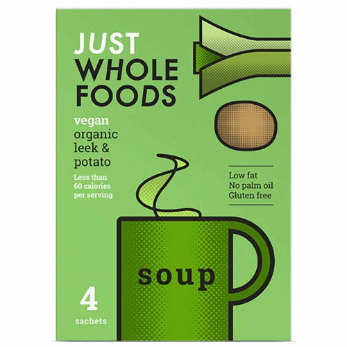 Just Wholefoods Organic Leek & Potato Soup Mix (68g)