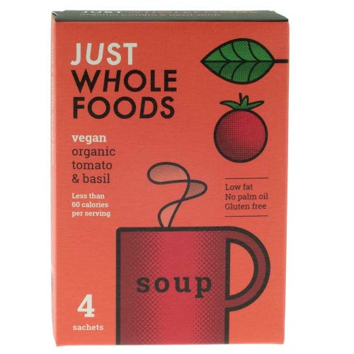 Just Wholefoods Organic Tomato & Basil Soup Mix (68g)