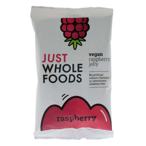 Just Wholefoods Vegan Raspberry Jelly Crystals (85g)