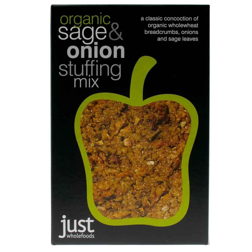 Just Wholefoods Organic Sage & Onion Stuffing (125g)