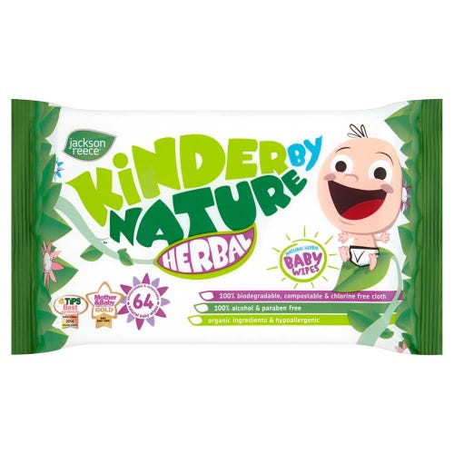 Kinder By Nature Herbal Baby Wipes - Bulk 10 Pack