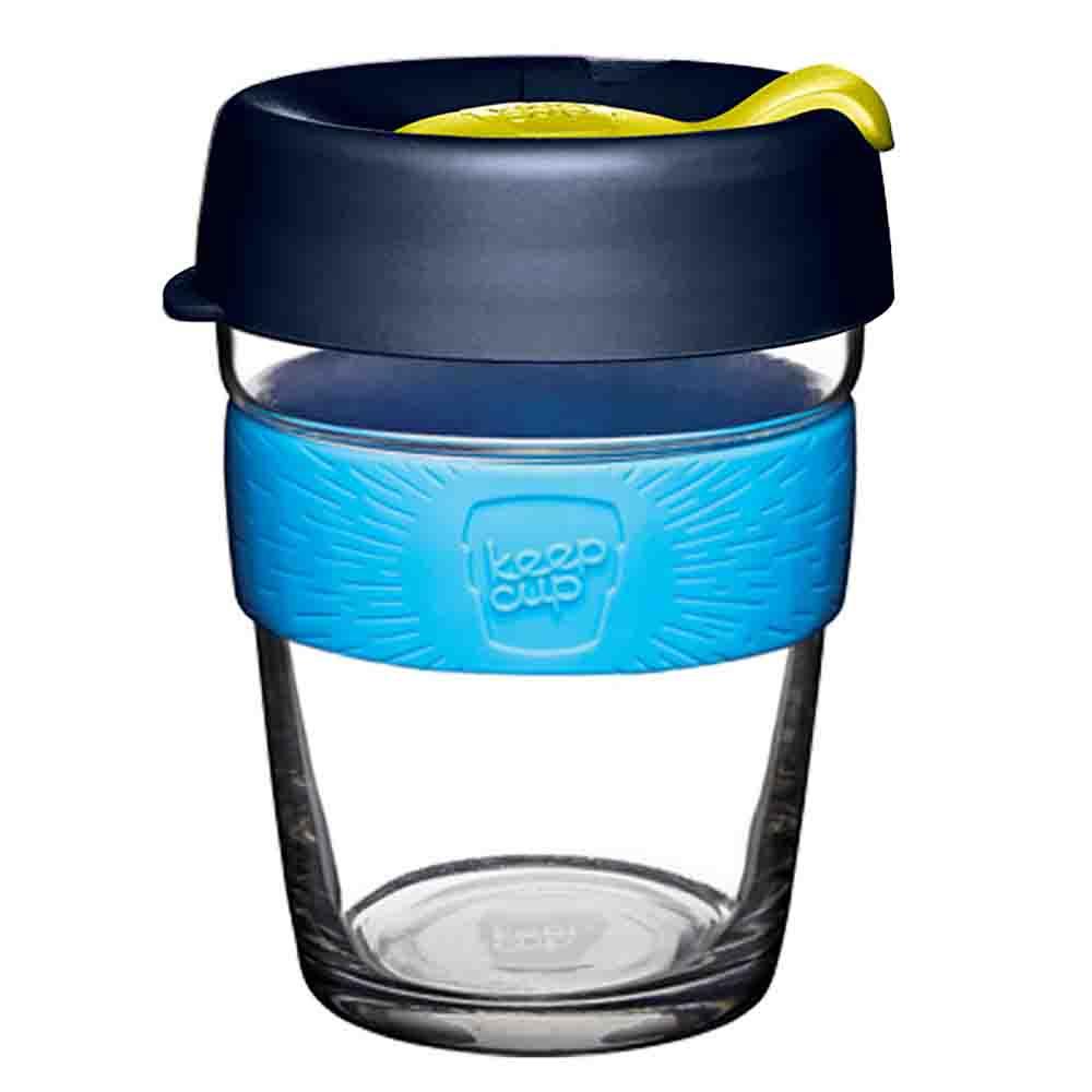 KeepCup Glass Coffee Cup - Blueleaf (12oz)
