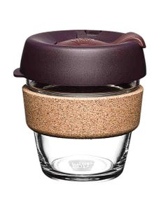 KeepCup Glass Coffee Cup with Cork - Alder (6oz)