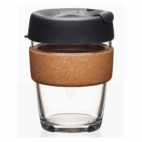 KeepCup Glass Coffee Cup with Cork - Espresso (12oz)