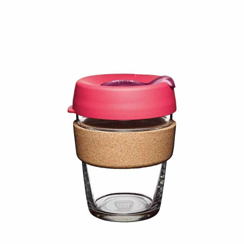 KeepCup Glass Coffee Cup with Cork - Flutter (12oz)