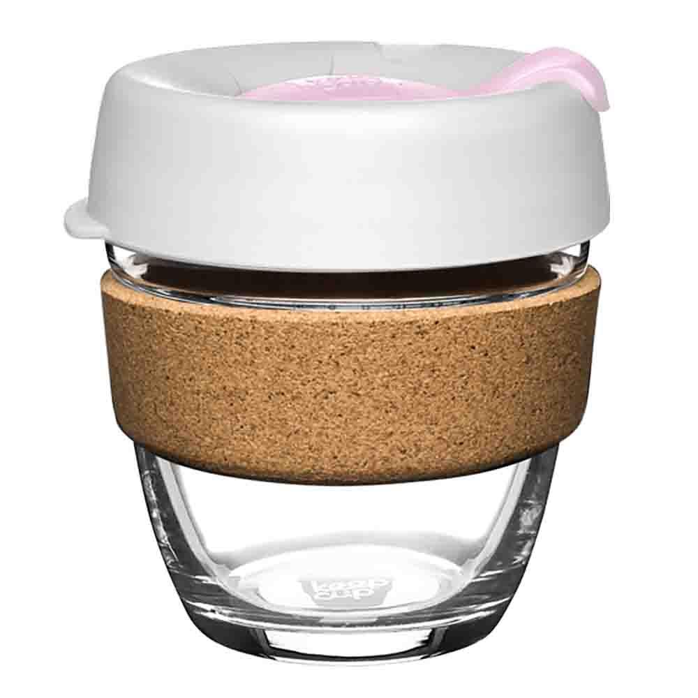 KeepCup Glass Coffee Cup with Cork - Hazel (8oz)