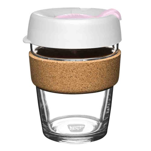 KeepCup Glass Coffee Cup with Cork - Hazel (12oz)