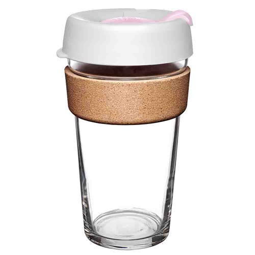 KeepCup Glass Coffee Cup with Cork - Hazel (16oz)