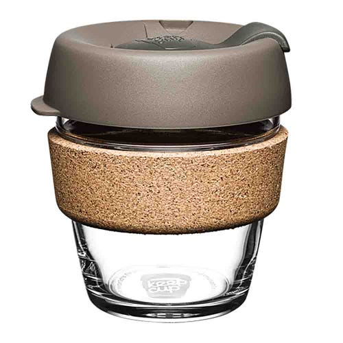 KeepCup Glass Coffee Cup with Cork - Latte (6oz)