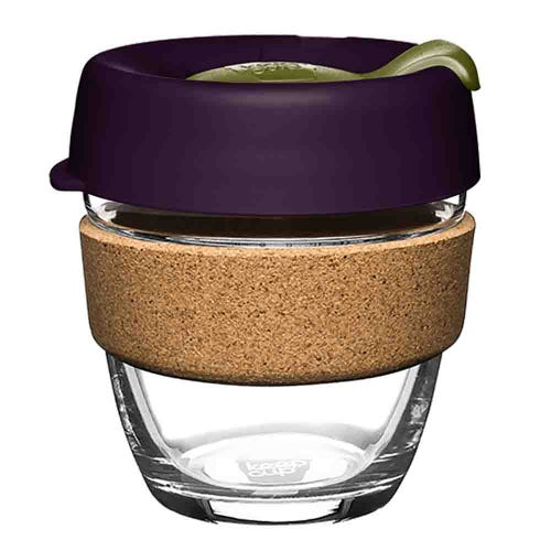 KeepCup Glass Coffee Cup with Cork - Pistachio (8oz)