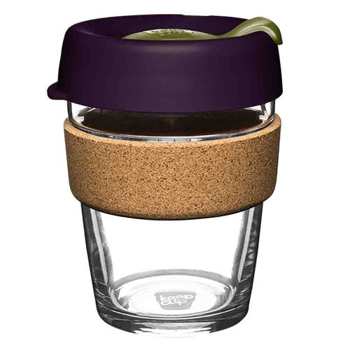 KeepCup Glass Coffee Cup with Cork - Pistachio (12oz)