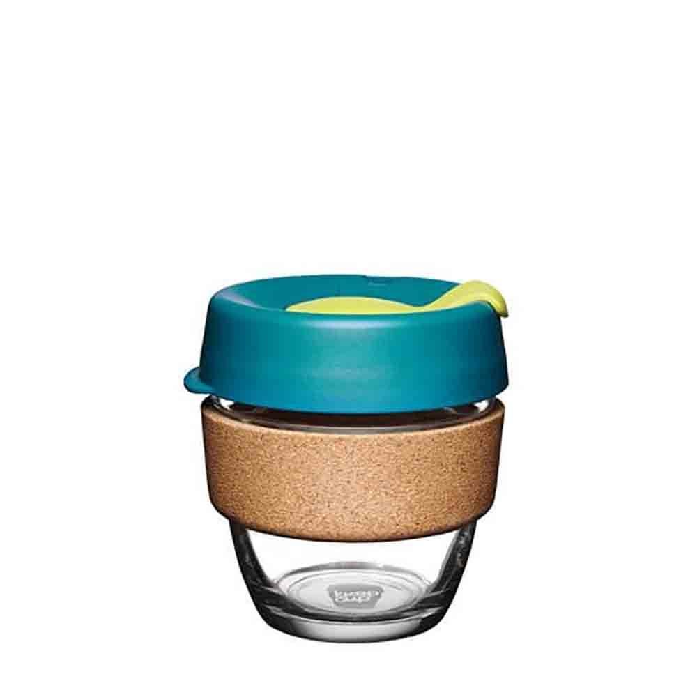 KeepCup Glass Coffee Cup with Cork - Turbine (8oz)