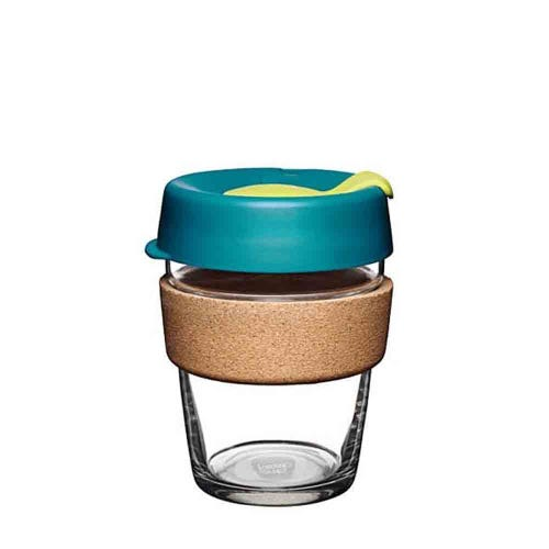 KeepCup Glass Coffee Cup with Cork - Turbine (12oz)