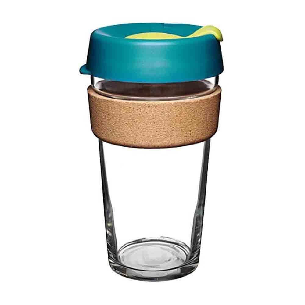 KeepCup Glass Coffee Cup with Cork - Turbine (16oz)