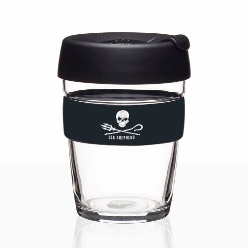 KeepCup Sea Shepherd Glass Coffee Cup (12oz)