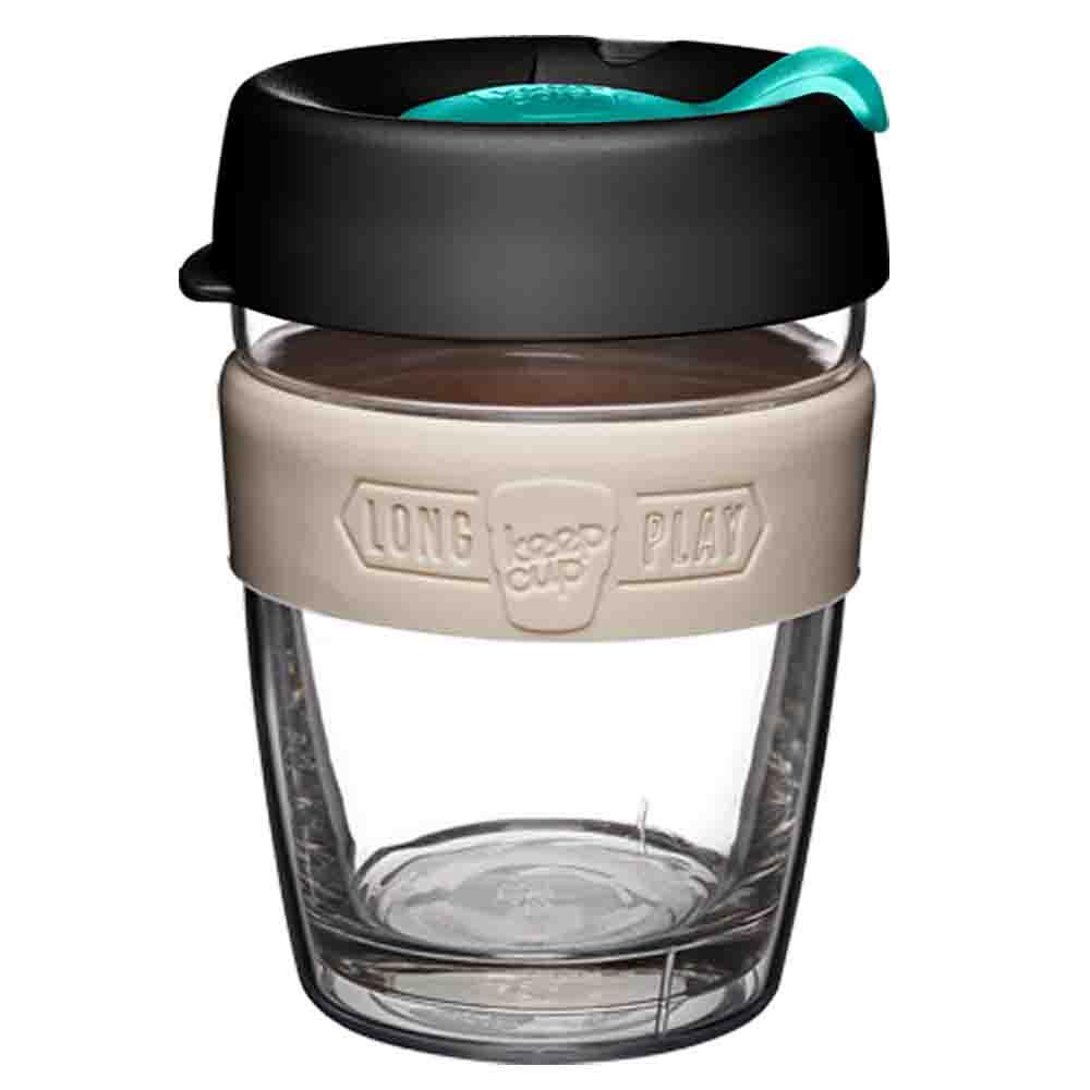KeepCup LongPlay Glass Coffee Cup - Macadamia (12oz)