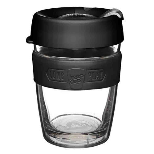 KeepCup LongPlay Glass Coffee Cup - Black (12oz)