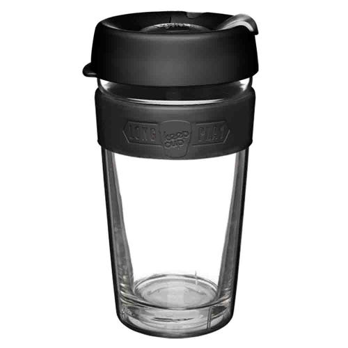 KeepCup LongPlay Glass Coffee Cup - Black (16oz)