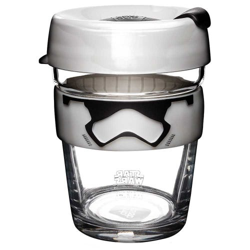KeepCup Star Wars Glass Coffee Cup Storm Trooper (12oz)