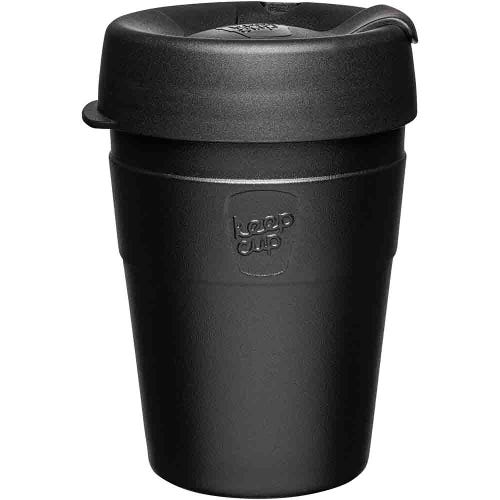KeepCup Thermal Stainless Steel Coffee Cup - Black (12oz)
