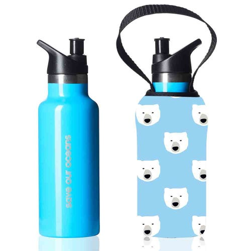 BBBYO Kids Sippy Bottle + Carry Cover Polar - 500ml