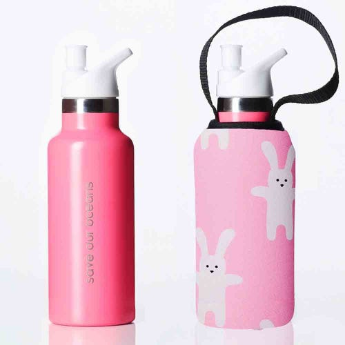 BBBYO Kids Sippy Bottle + Carry Cover Rabbit - 500ml