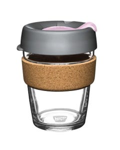 KeepCup Glass Coffee Cup with Cork - Myrtle (12oz)