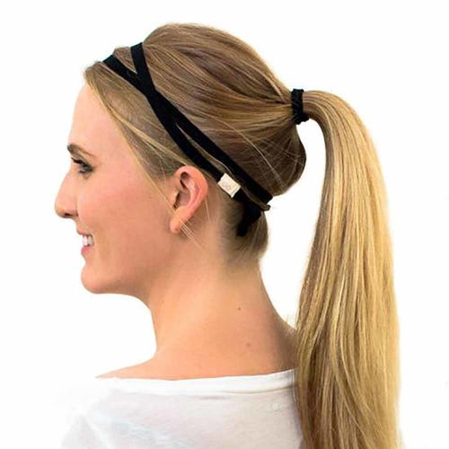 Kooshoo Organic Cotton Skinny Headband - Black