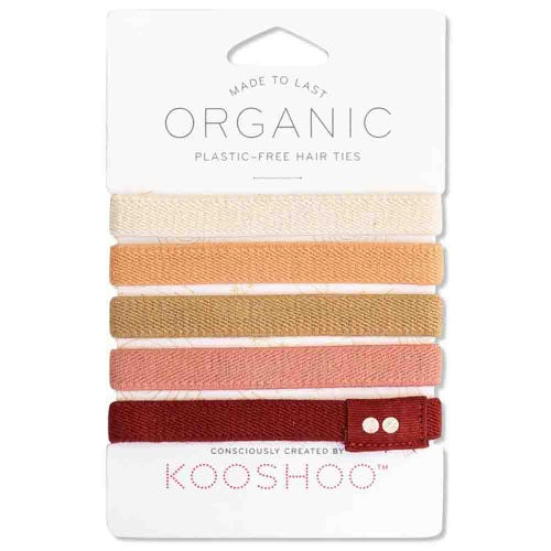 Kooshoo Certified Organic Hair Ties - Ginger