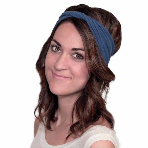 Kooshoo Organic Cotton Twist Headband - Navy Blue