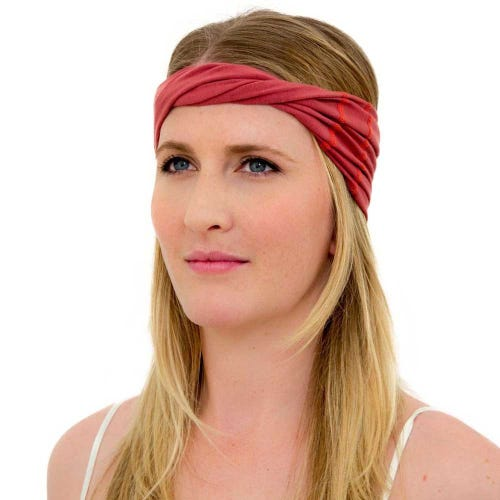 Kooshoo Organic Cotton Twist Headband - Marsala Red