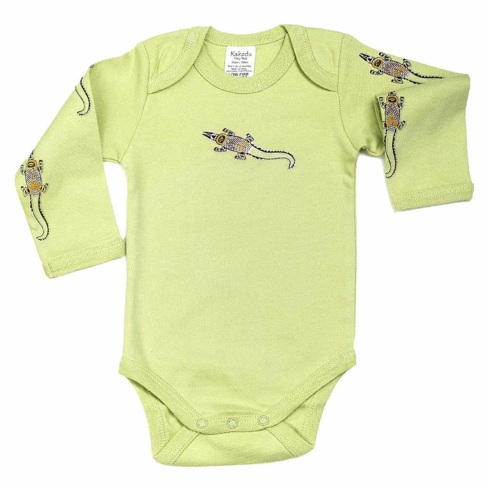 Crocodile Dreaming Jumpsuit LS Khaki 0-3 months