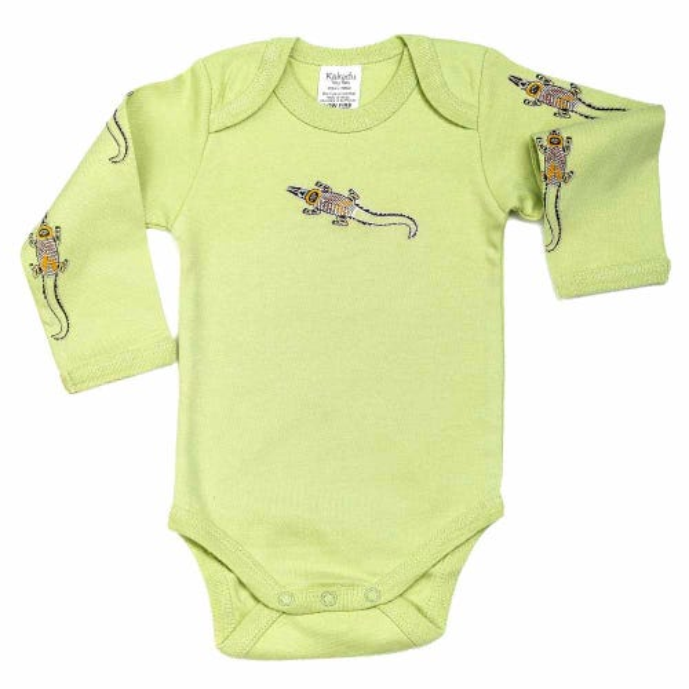 Crocodile Dreaming Jumpsuit LS Khaki 3-6 months