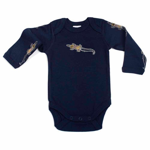 Crocodile Dreaming Jumpsuit LS Navy 0-3 months