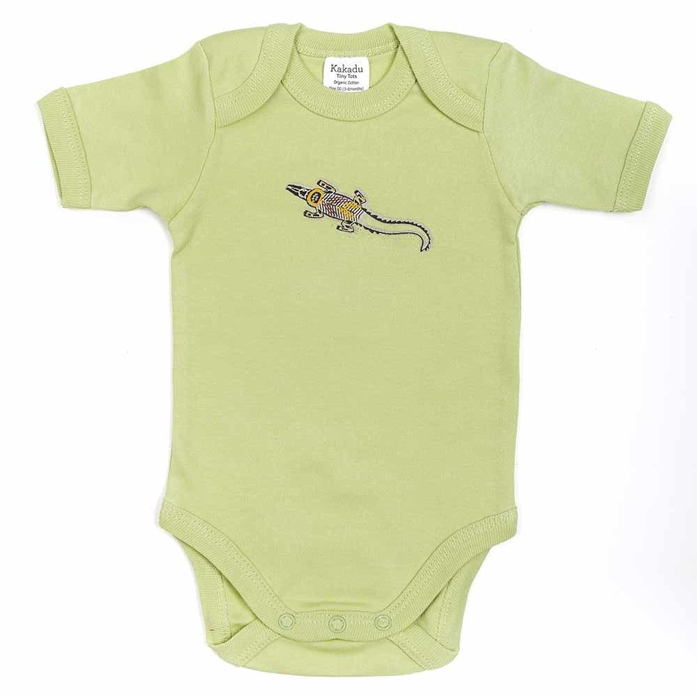 Crocodile Dreaming Jumpsuit Khaki 3-6 months